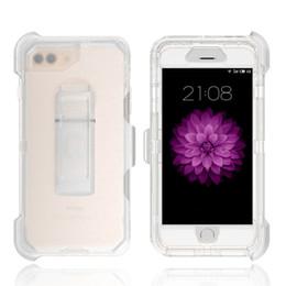 iphone corpo inteiro transparente Desconto 3 em 1 Limpar Robot Case Transparente Capa Cheia Do Corpo Com Clipe Para iPhone 11 Pro Max X Xs Max 8 7 6 Plus Samsung S7 edge S8 S9 Plus Nota 9 8