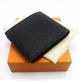 Wholesale mens multi card wallet - Paris plaid check style Designer mens wallet famous men luxury brand wallet special canvas multiple short small wallets with box