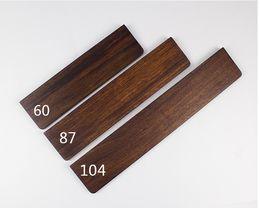Wholesale Wooden Keyboards - Wooden Wrist Rest ebony pine wood for mechanical keyboards gh60 xd60 xd64 poker 87 104 xd84
