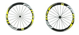 Wholesale Carbon Fiber Rims Bicycle - 2016 top sale FFWD F6R 50mm aluminium rim road carbon wheels white yellow fast forward bicycle carbon fiber wheels with 482 or 582 hubs