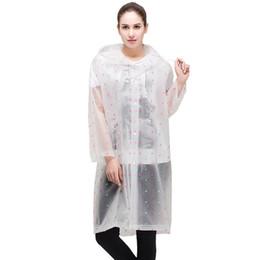 14b605146ea Outdoor adult Hiking raincoat Men and women fashion semi transparent  frosted EVA Rainwear Waterproof Poncho Rain Coat