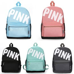 9740eba6c8260 Sırt çantası Pembe mektup Sırt tuval çanta Seyahat Çantaları Genç Okul  Çantaları Öğrenci çantası 5 renkler supplier student backpacks