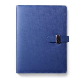 Poche personnelle en Ligne-BLEL Hot 3 Taille Diary Notebook Personal Pocket Organizer Planner PU couverture en cuir, bleu A6