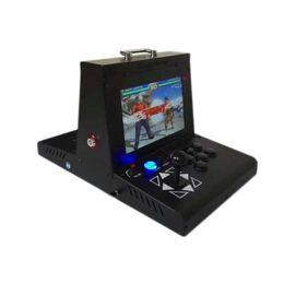 Placas de arcada on-line-2 jogador caixa de metal máquina de jogo de arcade com 10 polegada lcd 3d pandora tesouro 2200 em 1 placa principal saída vga hdmi