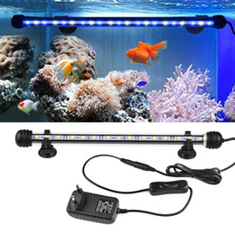 Wholesale Led Strip Lights Fish Tank - IP68 Waterproof LED Fish Tank light 19 29 39 49cm Aquarium Decoration lamp Underwater Tube Bulb 110V-220V EU Plug RGB Remoter