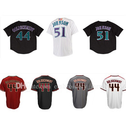 Wholesale Black Paul Goldschmidt Jersey - mens #51 Randy Johnson jersey #44 Paul Goldschmidt jerseys High quality Cheap wholesale Embroidery Logos jerseys Free shipping