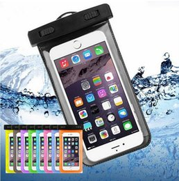 Wholesale Compass Cases - 2018 Dry Bag Waterproof Case Bag PVC Protective Universal Phone Bag Pouch With Compass Bags For Diving Swimming Up to 5.8 Inch