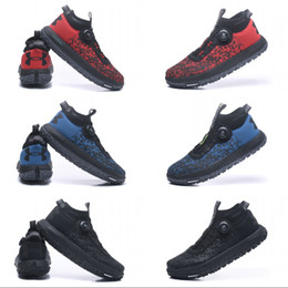 Wholesale Red Flat Shoelaces - Under Armour Originals mans Fat Tire2 Running Shoes Top UA Training Automatic shoelace Sneakers Black Blue Red Size 40-45