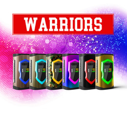 Wholesale Vw Led Light - Authentic Laisimo Warrior 230W VW TC Box Mod 2x 18650 Or 20700 Battery LED Light Mods For Original 510 Thread Atomizers 100% Genuine