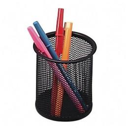 Gros-SZS Gros Noir En Acier Maille Bureau Stylo Crayon Organisateur Tasse Titulaire Office School Fournisseur UK ? partir de fabricateur