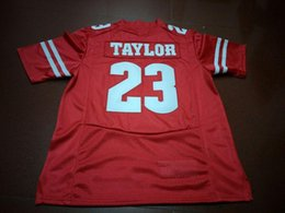 7bd486f98 Men Red white  23 Jonathan Taylor Wisconsin Badgers Alumni College Jersey S-3XL  or custom any name or number jersey number red football jersey for sale