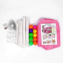 Princesa de hadas rosa online-Niñas Niños Pink Princess Castle Carpa plegable al aire libre portátil jugando Fairy House Toys