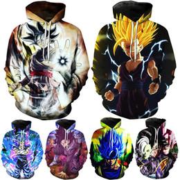 2019 os hoodies os mais novos dos homens do estilo 2018 Mais Novo Dos Homens das mulheres 3D Hoodies 6 estilos Anime Dragon Ball Z Super Saiyan Com Capuz Camisolas Goku Vegeta 3D Pullovers desconto os hoodies os mais novos dos homens do estilo