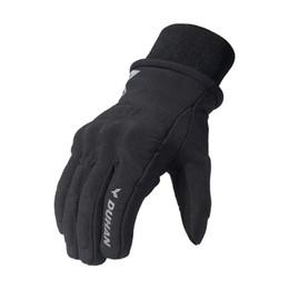 Сенсорный экран для зимних перчаток онлайн-Men's Warm Motorcycle Gloves Waterproof Winter Touch Screen Protective Gloves unisex Motocross Racing Guantes Luvas DUHAN M-XXL