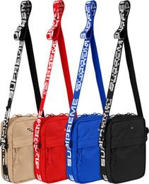 Wholesale chest canvas - Sup 44th Pack Chest Pack sup Unisex Fanny Pack Fashion Waist Bag Men Canvas Hip-Hop Belt Bag Men Messenger Bags 18ss Small Shoulder Bag