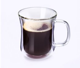 Wholesale Double Wall Heat Resistant Glasses - Double Wall Glass Cup Tea Coffee Cup Set With Handmade Heat -Resistant Creative Mug Tea Mugs Transparent Drinkware 200ml