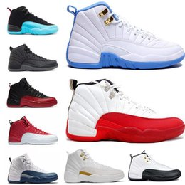 Wholesale Low Lifestyle - Cheap 2018 12 XII basketball shoes Flu Game the master GS Barons wolf grey Gym red taxi playoffs gamma french blue Sports sneaker