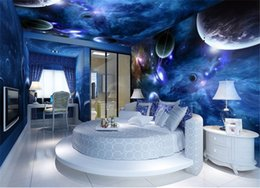 пластиковые мозаичные плитки Скидка обои 3D фрески для гостиной звезда планета вселенная космос планета обои росписи фото обоев