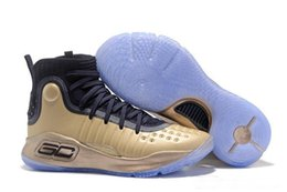 Wholesale Magic Laces - MVP Currys 4 Mens Basketball Shoes More Dimes Dubs Buckets Fun Rings Magic Range Black White Stephen 4 Athletics Sports shoe Sneaker 40-46