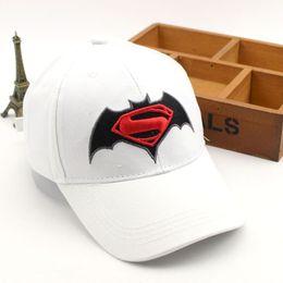 Wholesale boys batman baseball cap - Anime Cartoon Super Hero Superman Batman Baseball Caps For Children Boy Super Hero Hip Hop Hats Sun Hat Outdoor Shade Cap