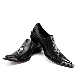 Wholesale usa wedding dresses - New Black Men Handmade Loafers with Dragon Embroidery USA Style Fashion Party and Banquet Men's Flat