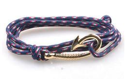 Corda del marinaio online-Wholesale- Endless August Multilayer Rope Bracciale pulseras hombre Tom speranza Ancoraggio nautico Sailor Anchor Bracciali amicizia uomini