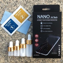 Wholesale 4d Glasses - 1ML 3ML 5ML Nano Coating Liquid Screen Protector for Universal Glass Screen Guard Film For All Smartphone 9H 4D 5D Full Curved Glass