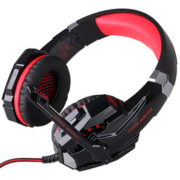 Wholesale Surround Sound Gaming Headphones - PS4 Gaming Headphone with USB 7.1 Surround Sound Game Headset Earphone for Laptop Tablet Mobile Phones Headband with Microphone LED Light