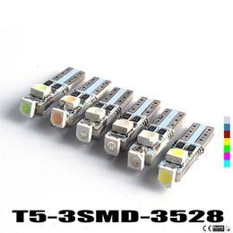 Discount smd led car auto - Hotsale T5 3 LED 3528 SMD 3led 3smd Car Auto Lamp Dashboard Gauge Lights Instrument Warning Indicator Signal Bulbs