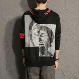 Più la tuta sportiva di hip hop di formato online-Moda New Mens giapponese Harajuku Felpe Autunno Inverno Tide Marchio Tuta sportiva Capispalla Taglie M-5XL Felpe Hip-Hop BFBlack Giacche