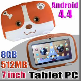 """câmera g sensor comprimido Desconto 2018 Crianças Marca Tablet PC 7 """"7 polegada Quad Core crianças tablet Android 4.4 Allwinner A33 google jogador 512 MB RAM 8 GB ROM"""