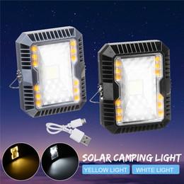 Перезаряжаемый светодиодный квадрат онлайн-COB Солнечный кемпинг свет супер яркий квадратный портативный 3 способа аккумуляторная аварийный светодиодный открытый кемпинг свет черный серый