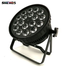 Wholesale Channel Business - 8pcs lotLED Par Can 18x12W RGBW Lighting DMX Stage Lights Business Lights High Power Light with Professional for Party KTV Disco DJ