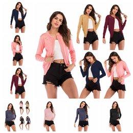 Europeu outono e inverno de mangas compridas frisado um botão em torno do pescoço xale de malha jaqueta, preto, rosa, cáqui, azul, apoio lote misto de Fornecedores de jaqueta de contas cor de rosa