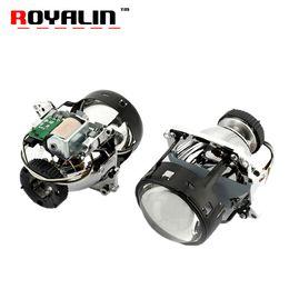 Wholesale headlight golf - ROYALIN AL Bi Xenon Projector Headlights Lens D2S For E46 E39 E60 X5 E70 A3 A4 Mercedes W203 W204 VW Golf GTI Touran