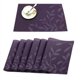 Estofamento de vinil on-line-Placemats do PVC, Placemat lavável do vinil do tecido Esteiras ocidentais Pad para a mesa de jantar Tapetes resistentes à prova de intempéries da tabela de cozinha da mancha