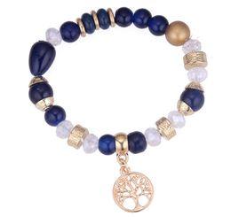 diy stretch perlen armband Rabatt 2018 Neue Ankunft Vereinigte Staaten diy Baum des Lebens Perlen Armband Stretch Mode Armbänder NK 166