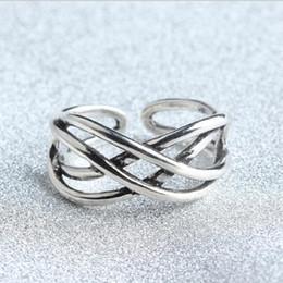 Tailandia encantos de plata online-Envío gratis! Venta caliente retro 925 anillos de plata para hombre mujer Compatible Tailandia encanto joyería anillos regalo al por mayor