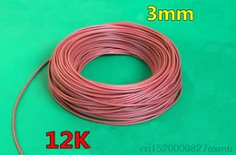 Wholesale Carbon Fiber Heated - 900M 12K 33ohm   M Infrared Heating Floor Heating Ther Cable System Of 3mm Silica Gel Carbon Fiber Wire Used In 220v 150w