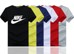Wholesale T Shirts Styles For Men - wholesale 2018 High quality cotton new O-neck short sleeve t-shirt brand men T-shirts casual style for sport men T-shirts 118 colors