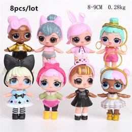 8pcs / lot Cartoon Doll américain PVC Kawaii Enfants Jouets Anime Figurines Réalistes Poupées Reborn 9cm ? partir de fabricateur