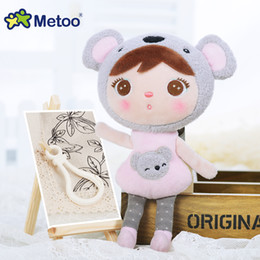 Wholesale Cute Panda Backpacks - Kawaii Stuffed Plush Animals Cute Backpack Pendant Baby Kids Toys for Girls Birthday Christmas Keppel Doll Panda Metoo Doll