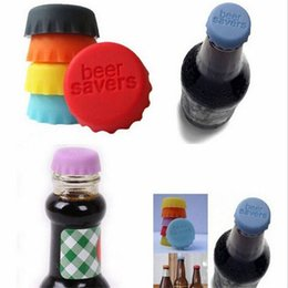 Wholesale Wholesale Plastic Wine Bottles - 3*1cm Silicone Beer Bottle Caps 6 Colors Sealing Plugs Wine Corks Seasoning Lids Bottle Covers Kitchen Gadgets