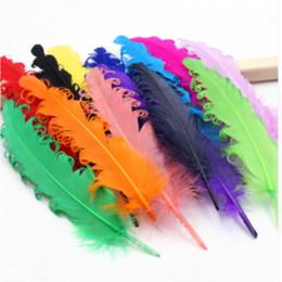 Смешанный цвет вьющиеся гусиное перо хэллоуин рождественские свадебные костюмы шляпа декоративные материалы перо 6-8 дюймов от Поставщики смесь материалов