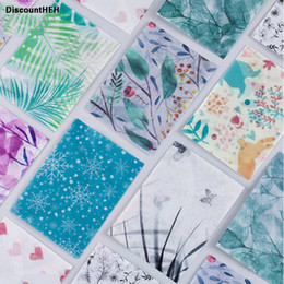 Wholesale Mail Supplies - 1Set!!!!! Mini Cute Recycled Paper Gift Envelope Kawaii Flower Mail Letter Postcard Kids School Materials Supplies