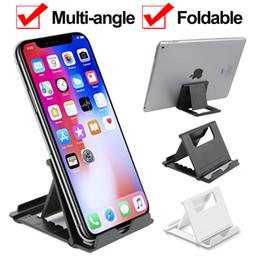 Soporte de escritorio plegable online-Soporte de escritorio plegable de ángulo múltiple ajustable Soporte para soporte de escritorio para tableta de teléfono celular