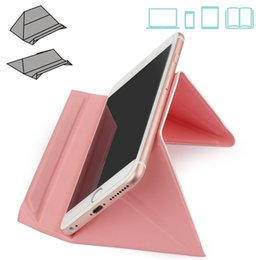 Wholesale Tablet Cradle - Good Quality Foldable Multi-Angle Desktop Holder Bracket Waterproof Ultra Thin Stand Cradle for Mobile Phone Tablet Notebook 5 Colors