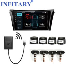 Wholesale Keyless Entry For Cars - Car TPMS Android Tire Pressure Monitoring System for OS DVD Player USB Interface suit for Renault Peugeot Toyota and All Cars