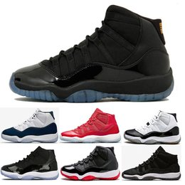 Wholesale Pink Prom Shoes - New 11s Blackout Cool Grey concord Men Women Basketball Shoes gamma blue Prom Night Heiress Black Gym Red Chicago space jam bred Sneakers