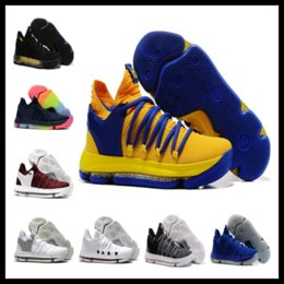 Wholesale Kd Sneakers Kids - KD 10 Home kids men women sales Basketball shoes free shipping Top Quality Kevin Durant sneakers store Drop Shipping US5-US12